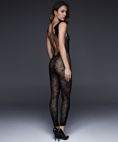 Private catsuit-tights, Svart
