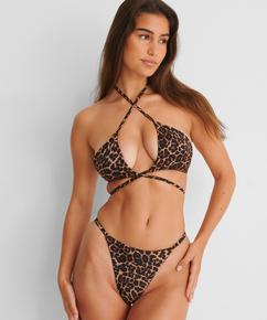 Animal g-streng bikinibukse med høy skjæring HKM x NA-KD, Brun