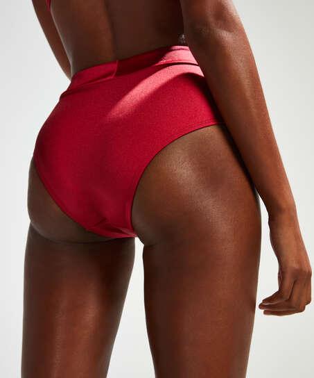 Lola høy bikiniunderdel, Rød