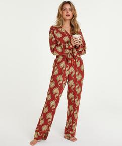 Petite Woven pysjamasbukse, Rosa