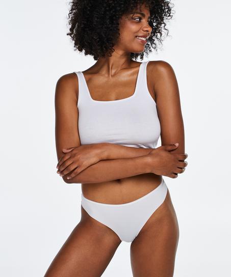 Usynlig brasiliansk med blonder bak, Hvit