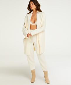 Premium Fluffy lang vest, Hvit