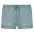 Velvet lace shorts, Grønn