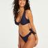 Harper brasiliansk bikinitruse med høy skjæring, Blå