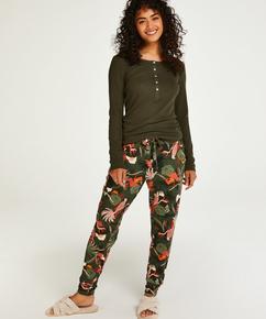 Petite Jersey pysjamasbukse, Grønn