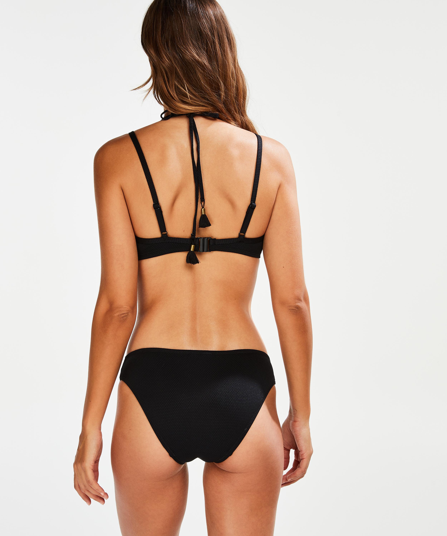 Scallop Glam foret bikinitopp med bøyle, Svart, main