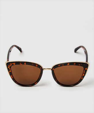 Cat Eye solbriller, Brun