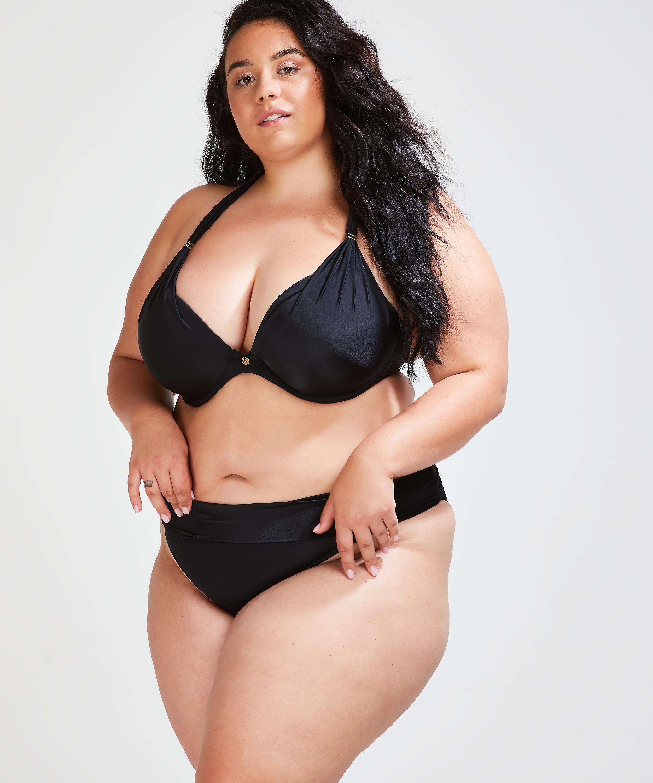 Sunset Dreams foret bikinitopp med bøyle, skål E og større, Svart, main