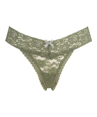 Ekstra lav V-thong, Grønn