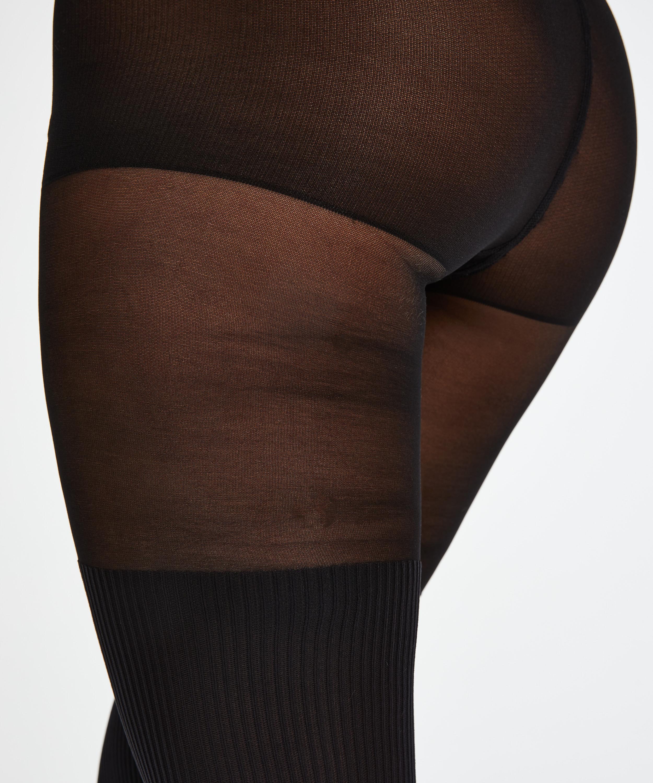 50 Denier tights Overknee sock, Svart, main