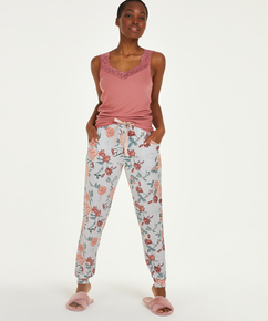 Jersey pysjamasbukse, Grå
