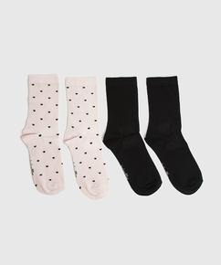 2 par sokker av viskose, Rosa