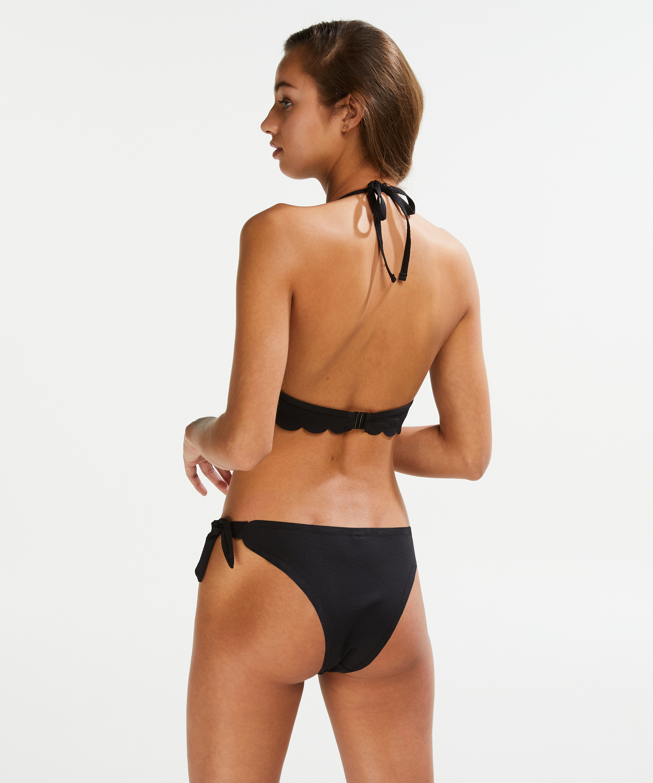Scallop pushup-bikinitopp med bøyle, skål A – E, Svart, main