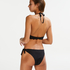 Scallop pushup-bikinitopp med bøyle, skål A – E, Svart