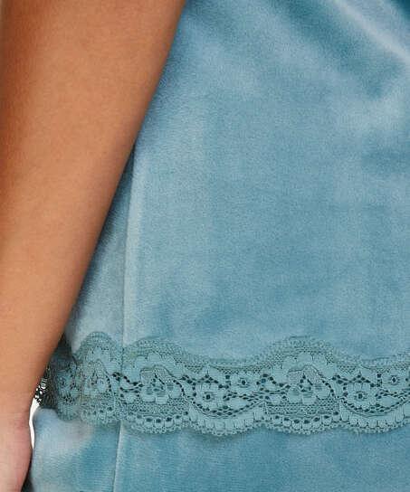 Velvet lace cami, Grønn