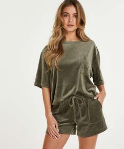 Velours Pocket shorts, Grønn