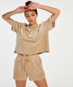 Velours Pocket shorts, Beige