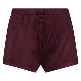 Velours shorts, Rød