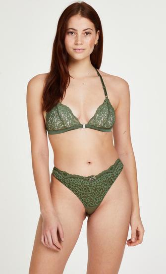 Rose polstret triangle-bralette, Grønn