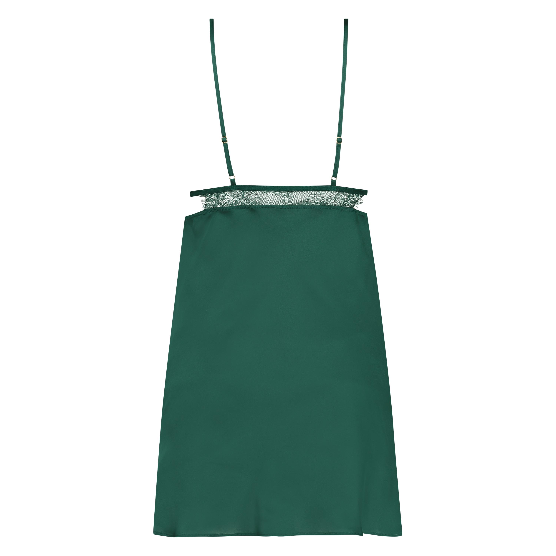 Sateng Holly slipkjole, Grønn, main