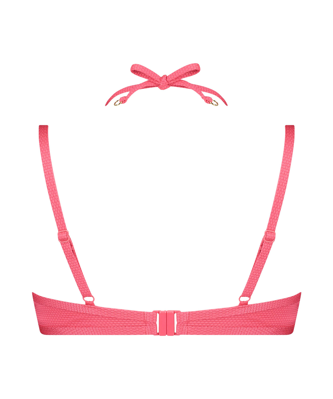 Ruffle Dreams polstret bikinitopp med bøyler, Rosa, main