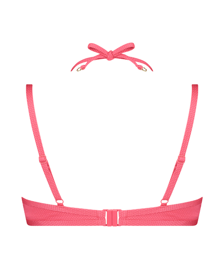 Ruffle Dreams polstret bikinitopp med bøyler, Rosa