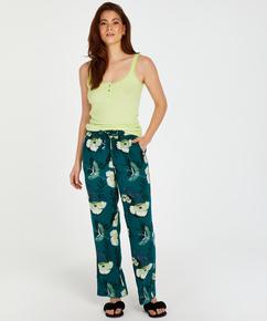 Tall Lotus Bird woven pysjamasbukse, Grå