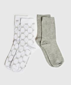 2 par Antonia-sokker, Hvit