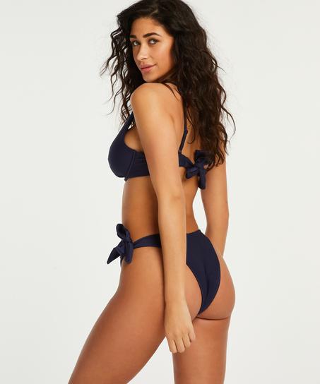 Harper uvattert bikinitopp med spiler, Blå