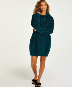 Kose fleece kjole, Blå