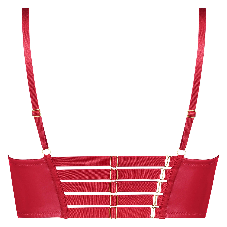 Kennedy Longline foret pushup-BH med bøyle, Rød, main