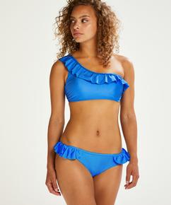 Suze crop-topp bikinitopp, Blå