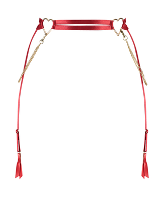 Heart suspender, Rød