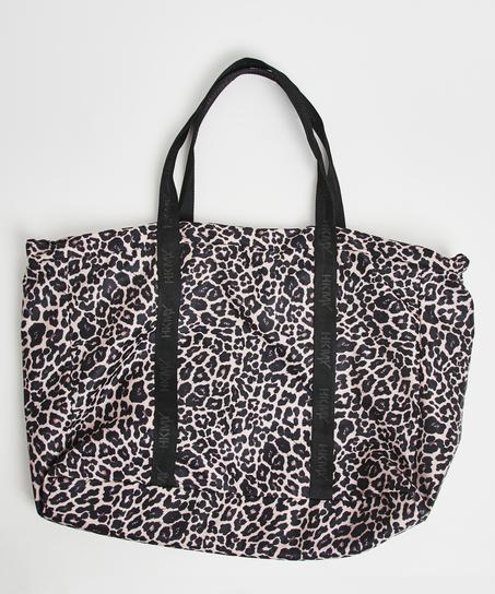 HKMX Leopard sportsbag, Svart
