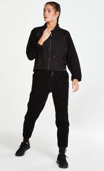 HKMX Leopard jakke , Svart