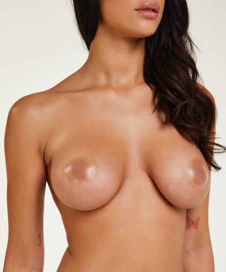 Brystvortedekkere av silikon, Hvit
