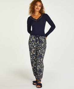 Petite Jersey pysjamasbukser, Blå