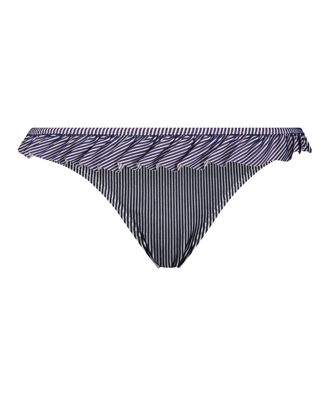 Ruffle Stripe Rio bikiniunderdel, Blå, main