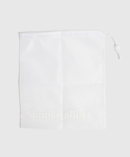 Vaskepose med snurpesnor, Hvit