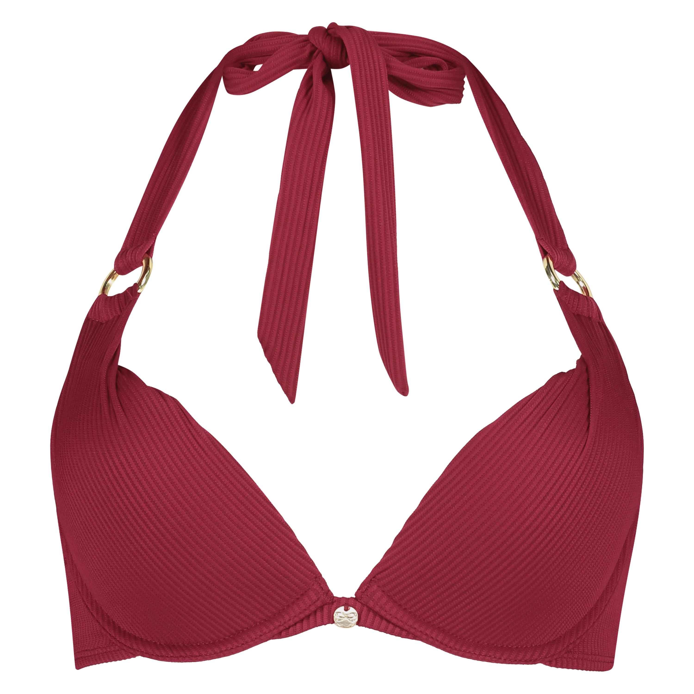 Golden Rings polstret bikinitopp med bøyler, Rød, main