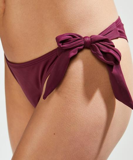 Frekk og lav Borneo mesh bikiniunderdel, Lilla